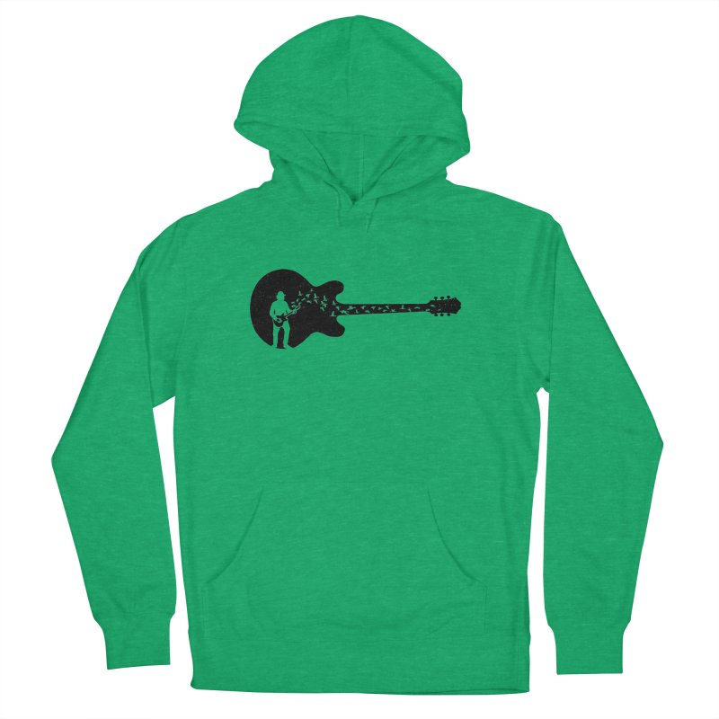 guitar guitarist Men's French Terry Pullover Hoody by barmalisiRTB