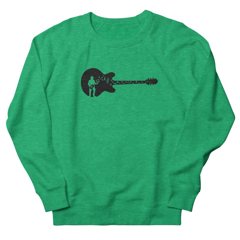 guitar guitarist Women's French Terry Sweatshirt by barmalisiRTB