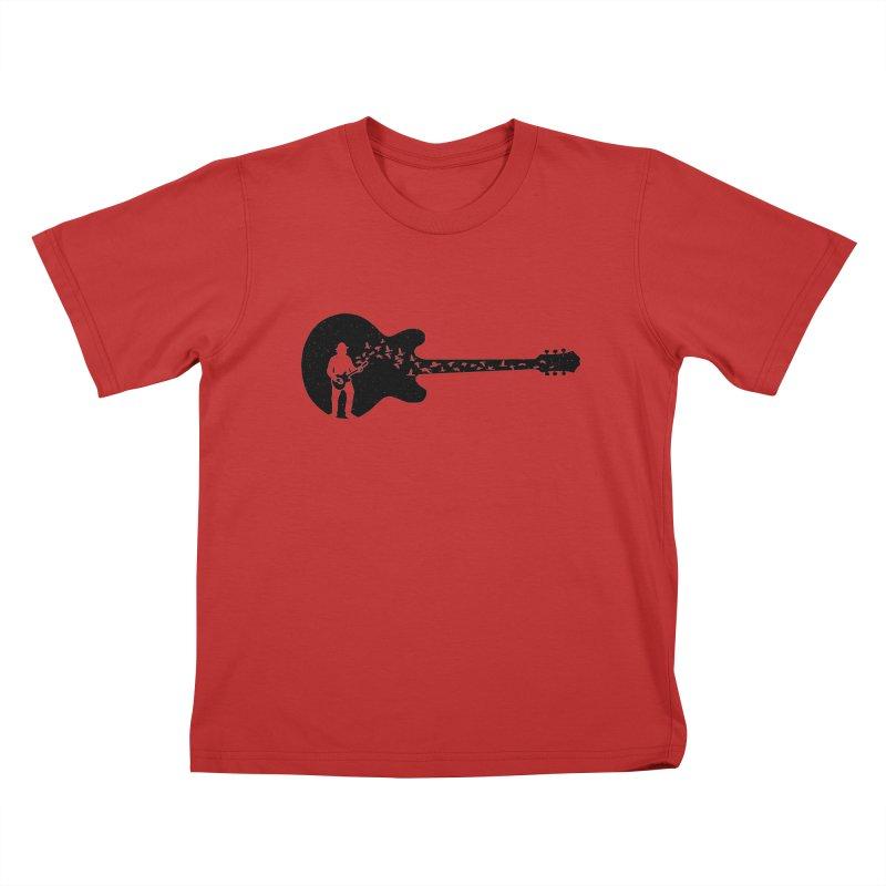 guitar guitarist Kids T-Shirt by barmalisiRTB