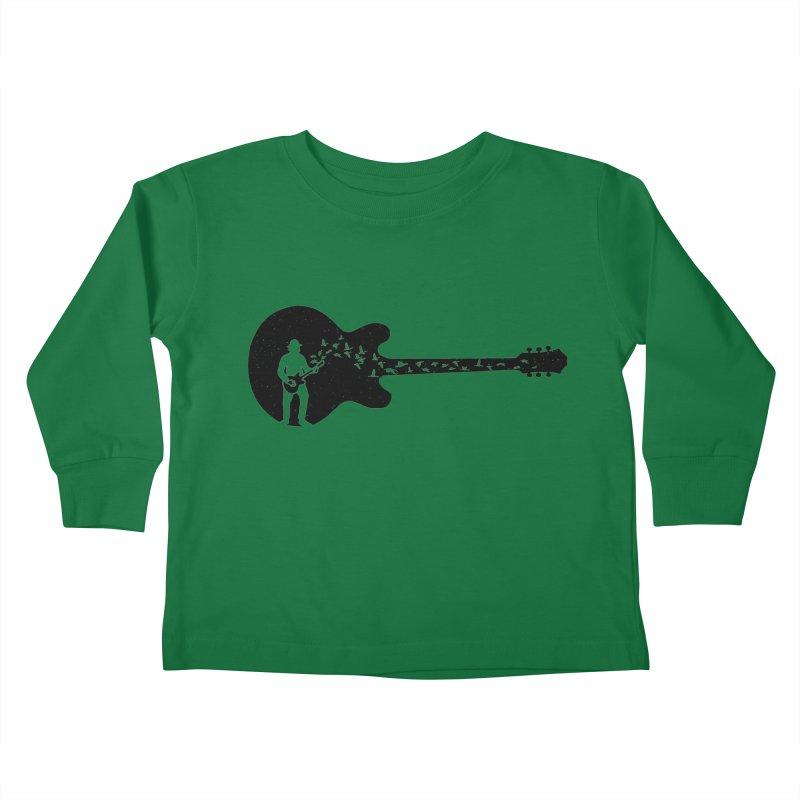guitar guitarist Kids Toddler Longsleeve T-Shirt by barmalisiRTB