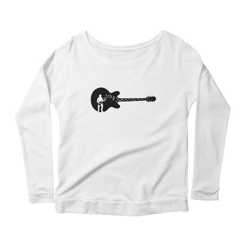 guitar guitarist Women's Scoop Neck Longsleeve T-Shirt by barmalisiRTB