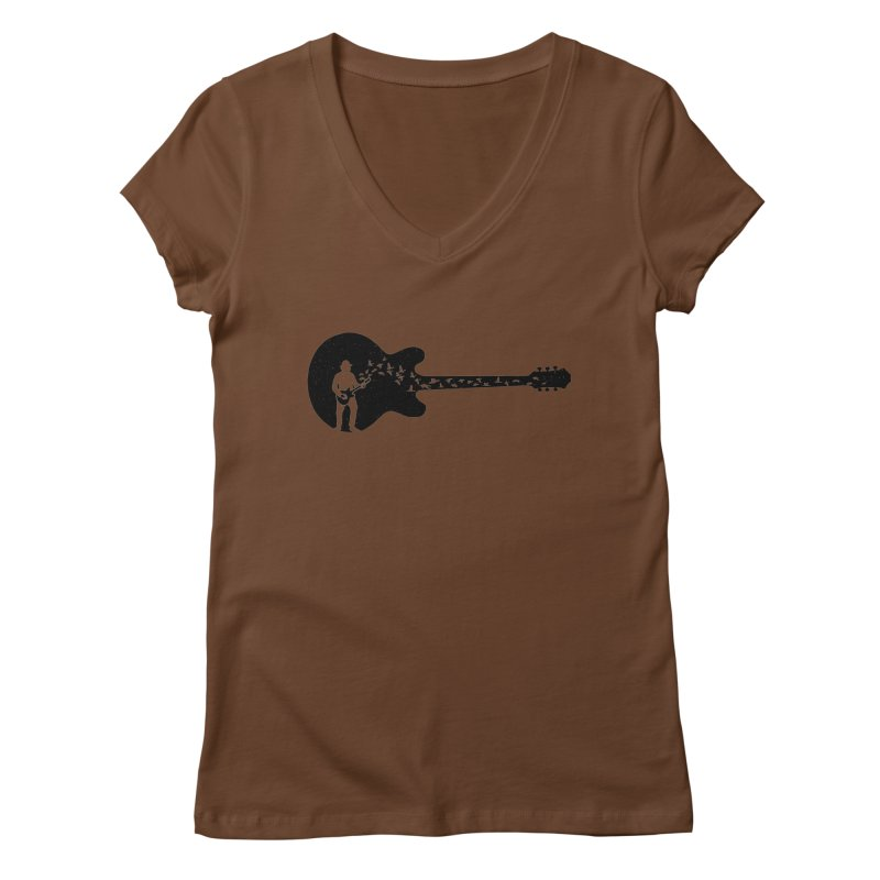guitar guitarist Women's Regular V-Neck by barmalisiRTB