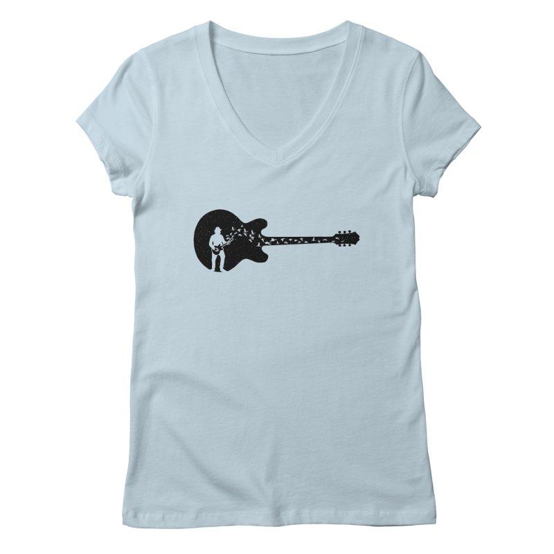 guitar guitarist Women's V-Neck by barmalisiRTB