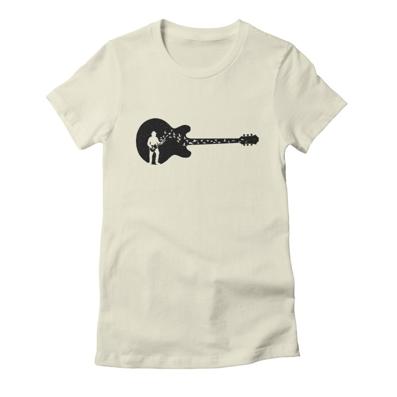 guitar guitarist Women's Fitted T-Shirt by barmalisiRTB
