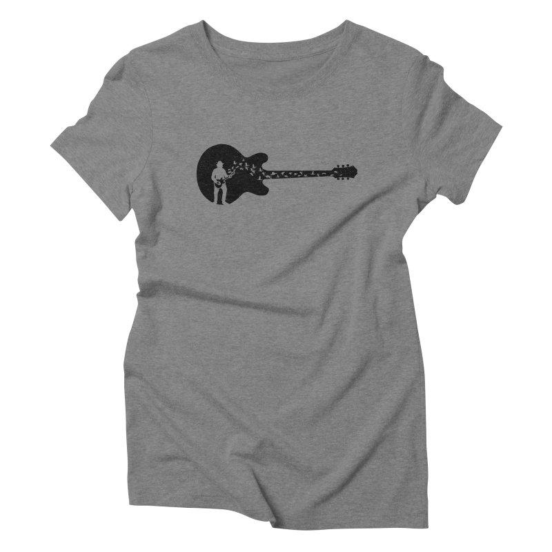 guitar guitarist Women's Triblend T-Shirt by barmalisiRTB