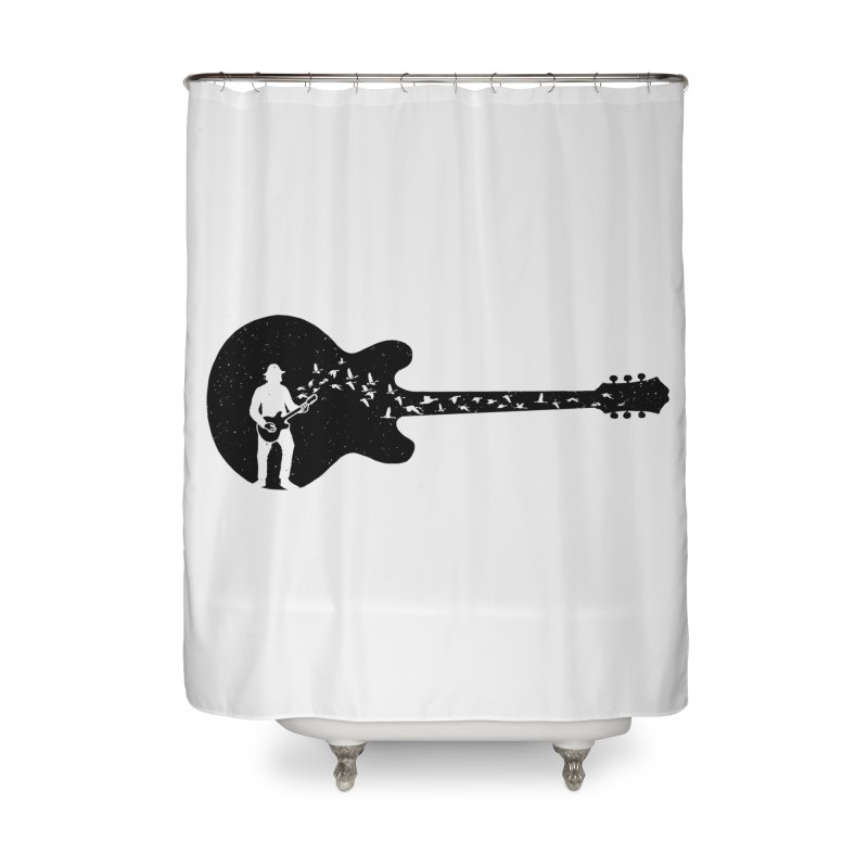guitar guitarist Home Shower Curtain by barmalisiRTB
