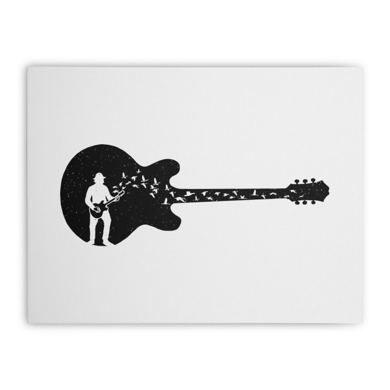 guitar guitarist Home Stretched Canvas by barmalisiRTB