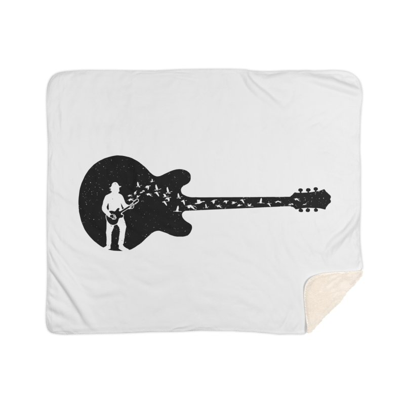 guitar guitarist Home Sherpa Blanket Blanket by barmalisiRTB
