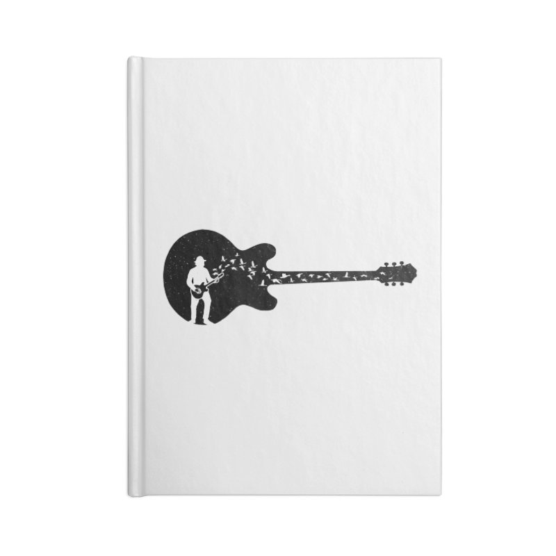 guitar guitarist Accessories Lined Journal Notebook by barmalisiRTB