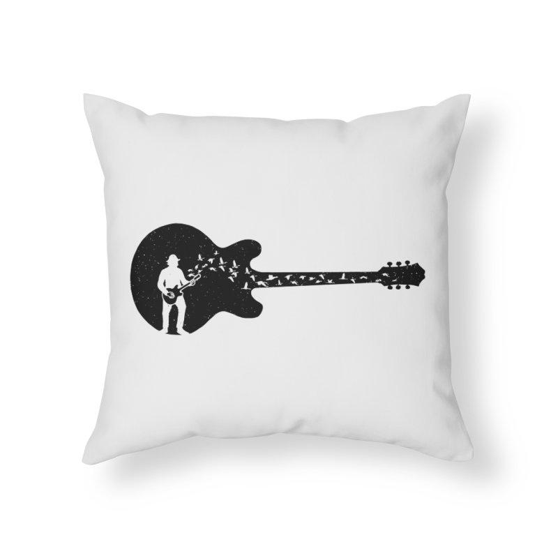 guitar guitarist Home Throw Pillow by barmalisiRTB