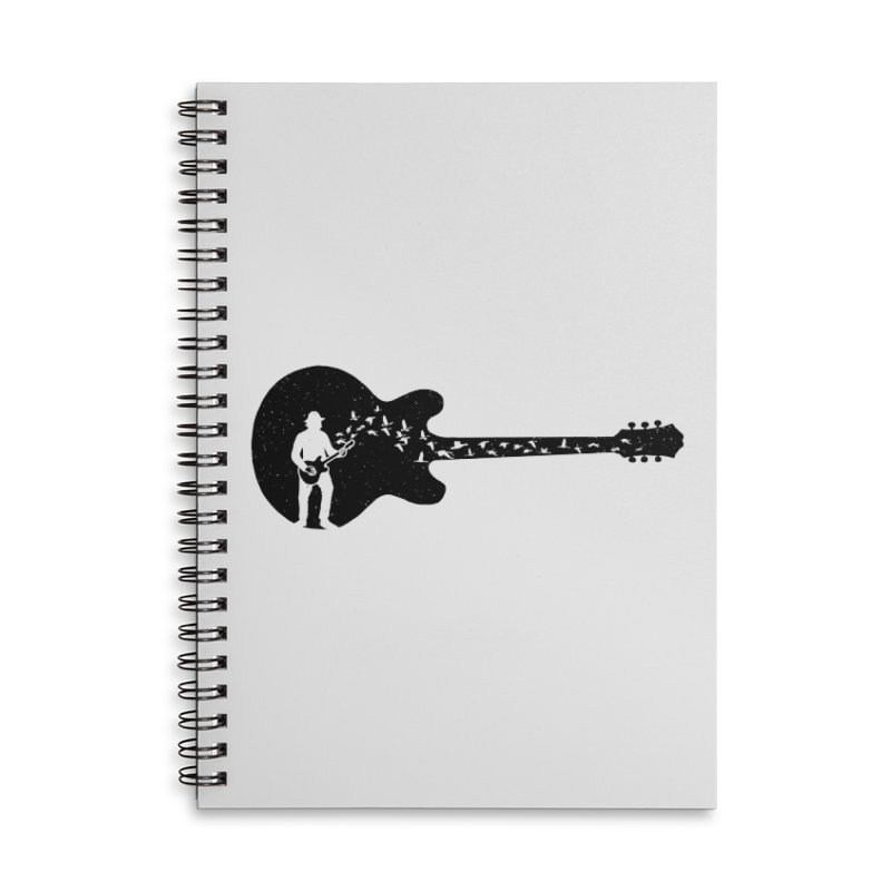 guitar guitarist Accessories Lined Spiral Notebook by barmalisiRTB
