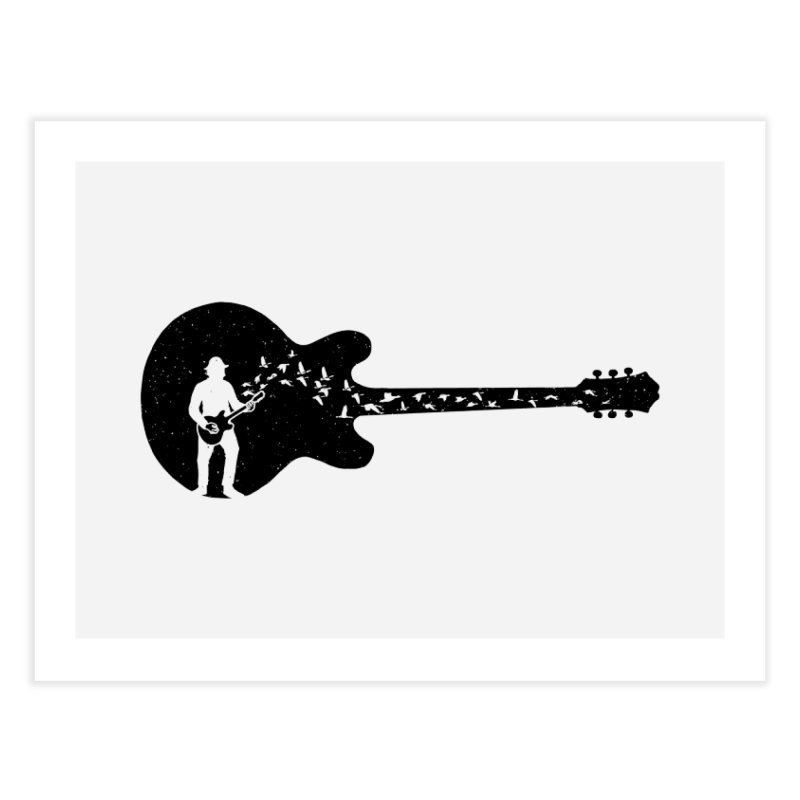 guitar guitarist Home Fine Art Print by barmalisiRTB