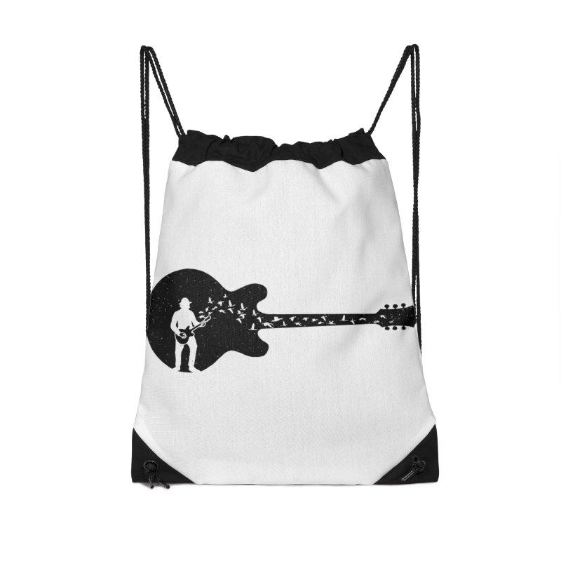 guitar guitarist Accessories Drawstring Bag Bag by barmalisiRTB