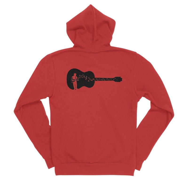 Guitar classical guitarist Men's Sponge Fleece Zip-Up Hoody by barmalisiRTB