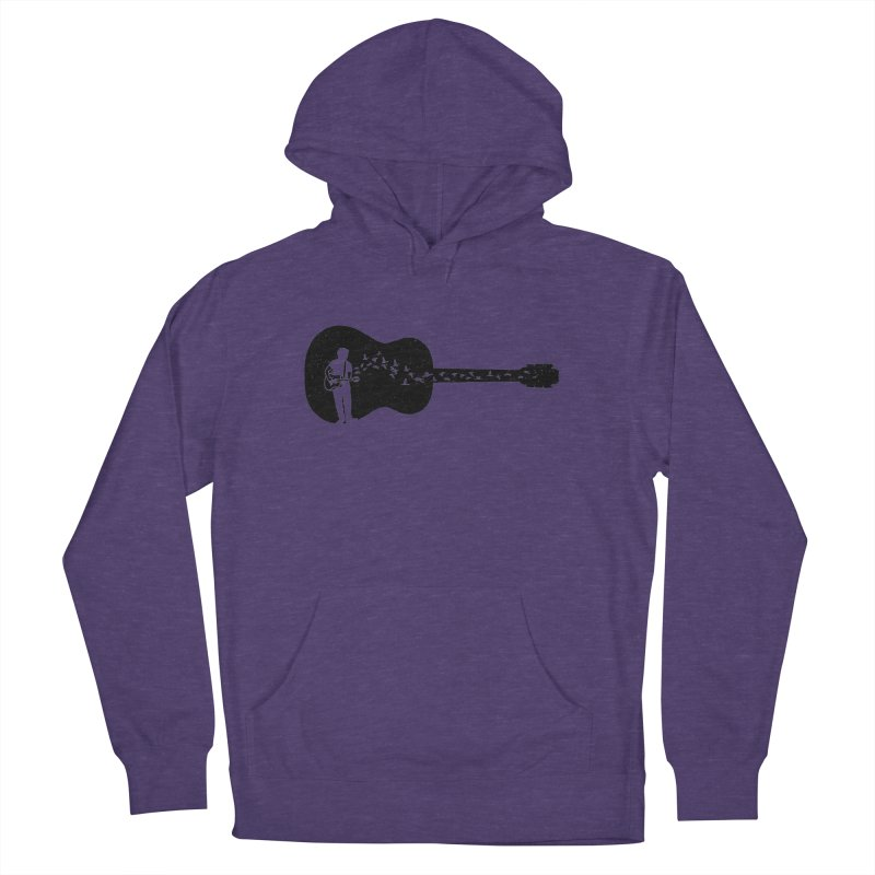 Guitar classical guitarist Women's French Terry Pullover Hoody by barmalisiRTB