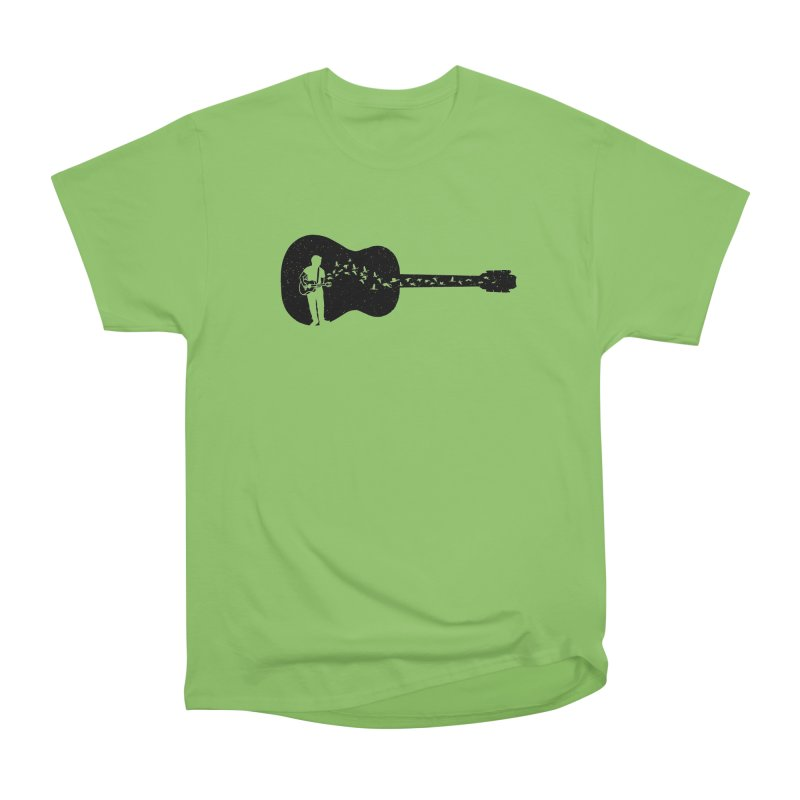 Guitar classical guitarist Men's Heavyweight T-Shirt by barmalisiRTB
