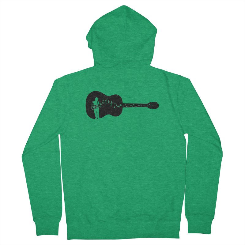 Guitar classical guitarist Men's Zip-Up Hoody by barmalisiRTB