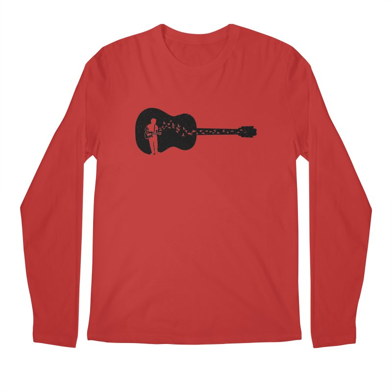 Guitar classical guitarist Men's Regular Longsleeve T-Shirt by barmalisiRTB