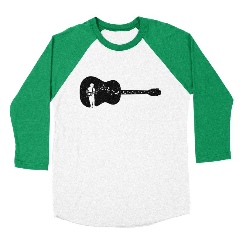 Guitar classical guitarist Men's Baseball Triblend Longsleeve T-Shirt by barmalisiRTB