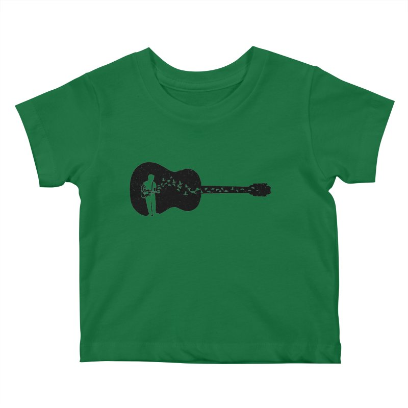 Guitar classical guitarist Kids Baby T-Shirt by barmalisiRTB