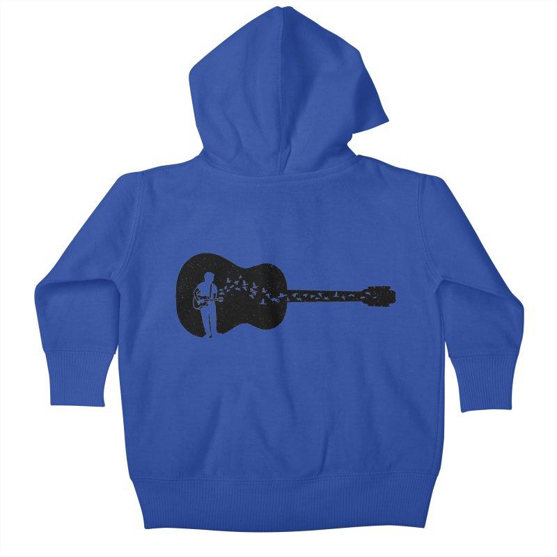 Guitar classical guitarist Kids Baby Zip-Up Hoody by barmalisiRTB