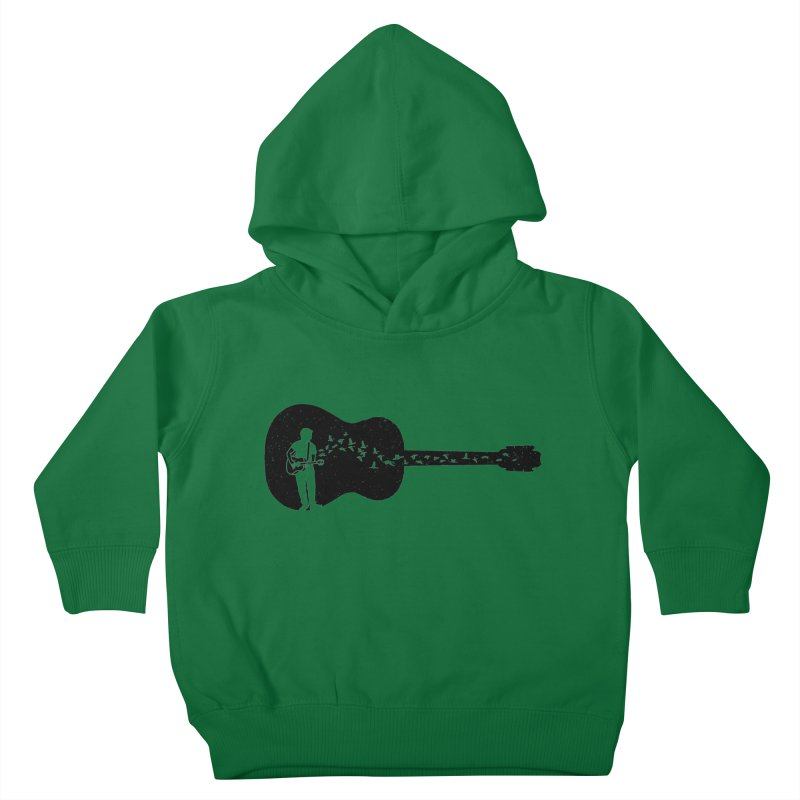 Guitar classical guitarist Kids Toddler Pullover Hoody by barmalisiRTB