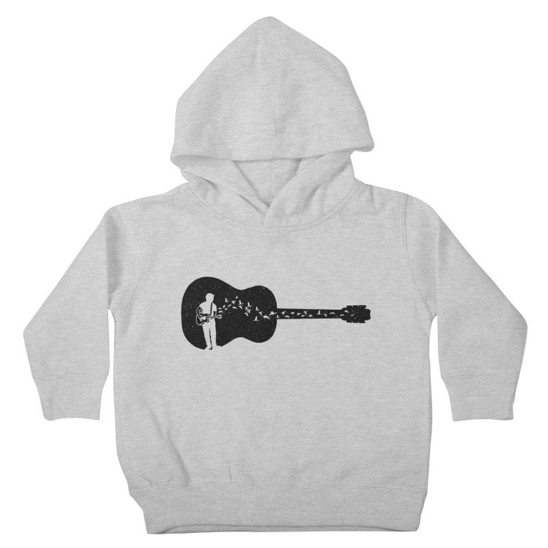 Guitar classical guitarist Kids Toddler Pullover Hoody by barmalisiRTB