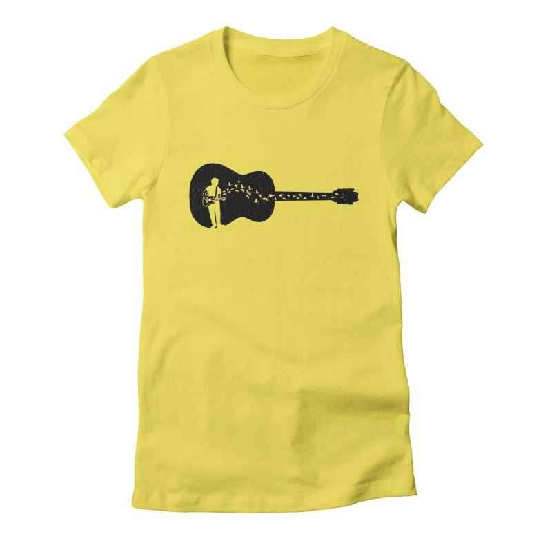 Guitar classical guitarist Women's Fitted T-Shirt by barmalisiRTB