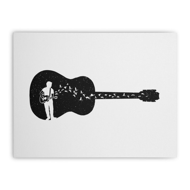 Guitar classical guitarist Home Stretched Canvas by barmalisiRTB