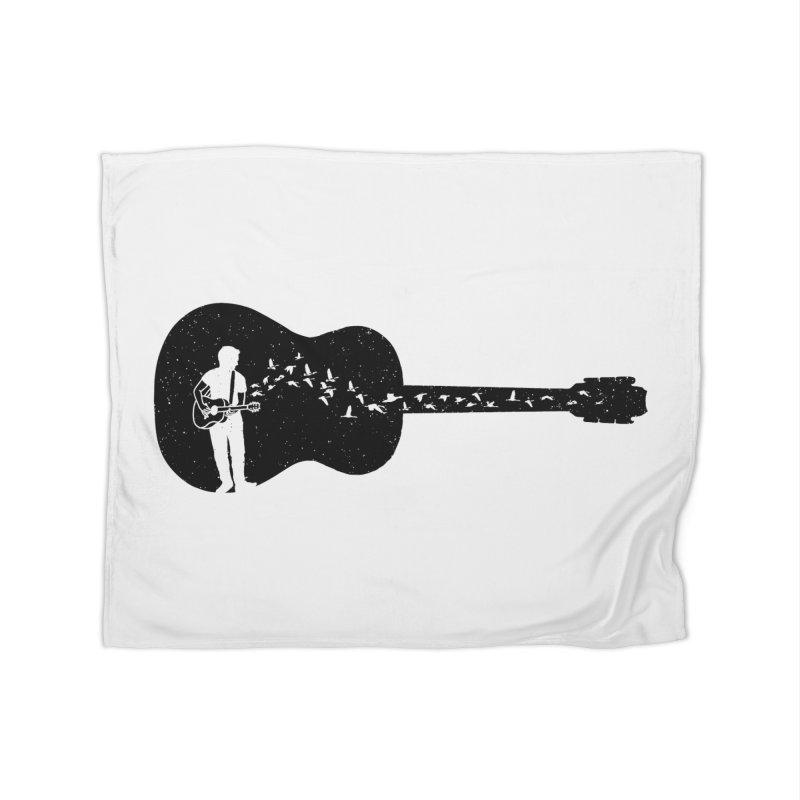 Guitar classical guitarist Home Fleece Blanket Blanket by barmalisiRTB