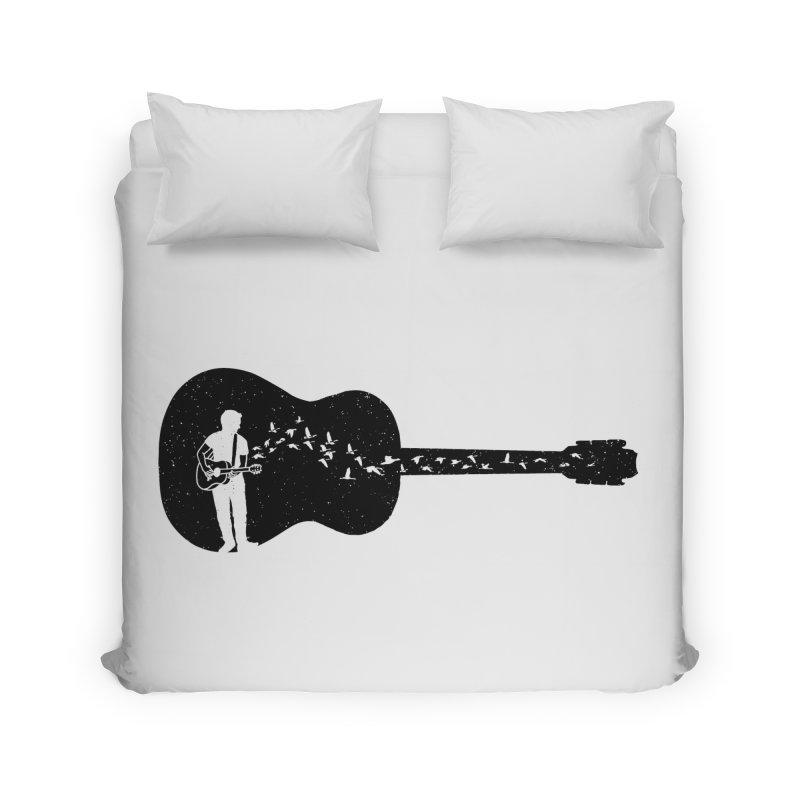 Guitar classical guitarist Home Duvet by barmalisiRTB