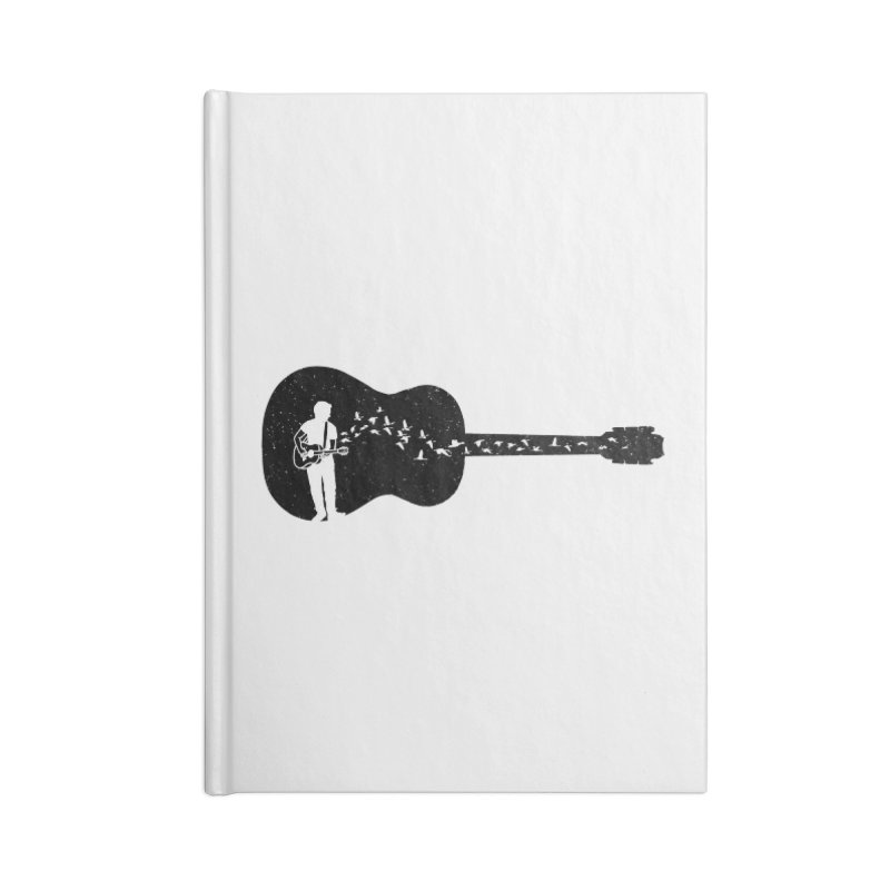 Guitar classical guitarist Accessories Blank Journal Notebook by barmalisiRTB