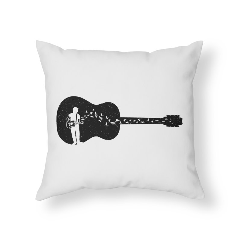 Guitar classical guitarist Home Throw Pillow by barmalisiRTB