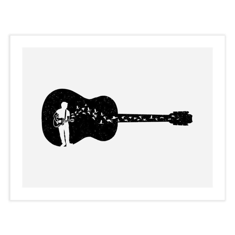 Guitar classical guitarist Home Fine Art Print by barmalisiRTB
