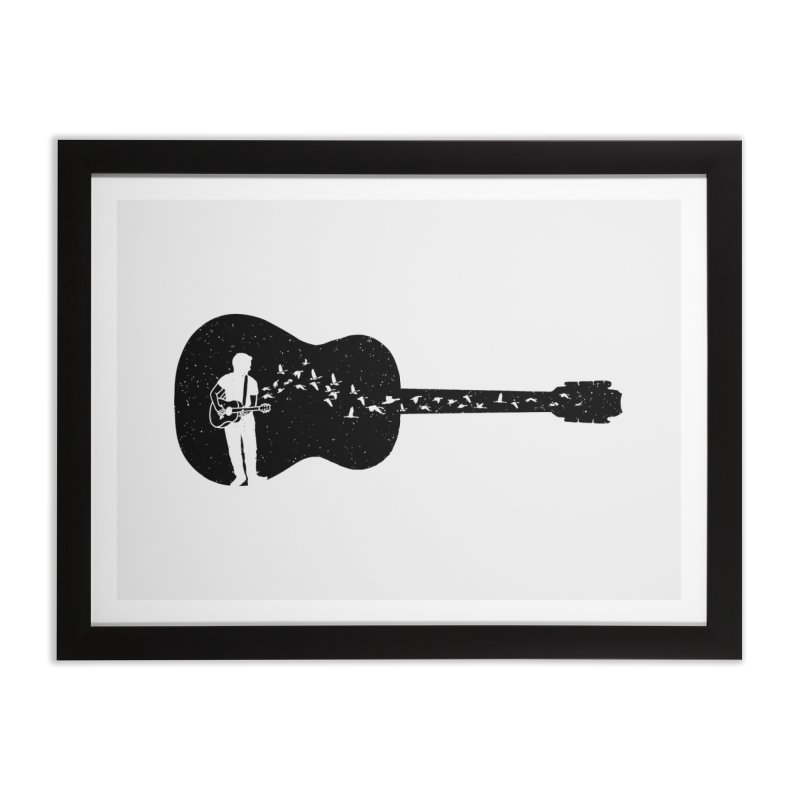Guitar classical guitarist Home Framed Fine Art Print by barmalisiRTB