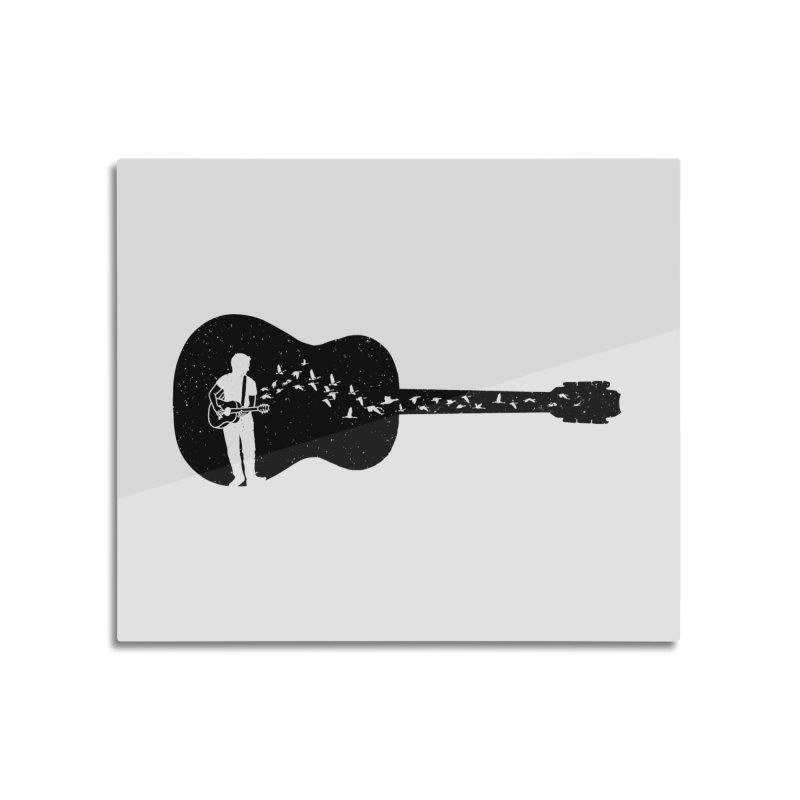 Guitar classical guitarist Home Mounted Aluminum Print by barmalisiRTB