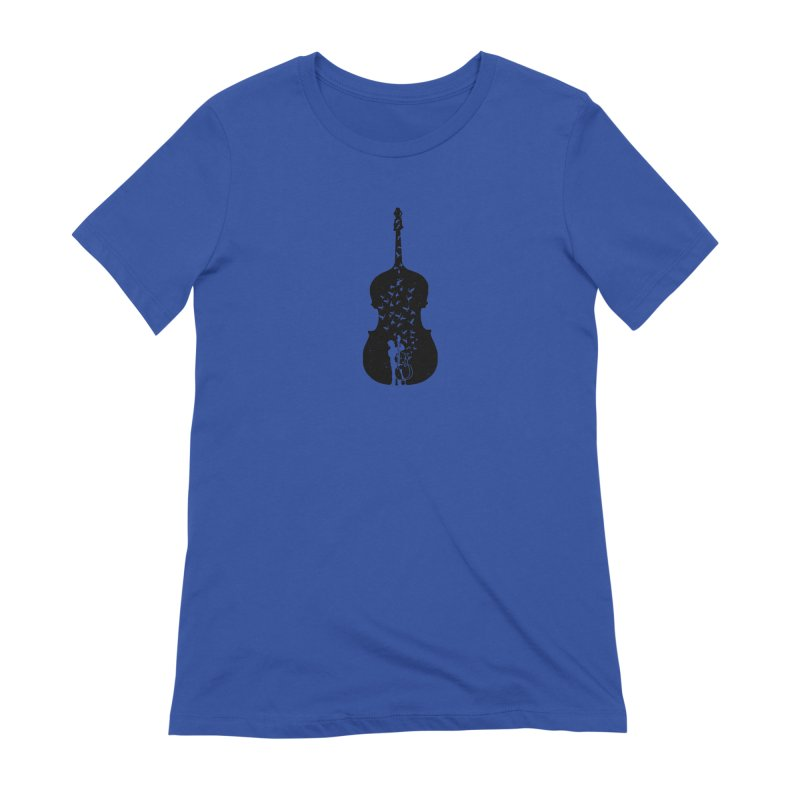 Double bass Women's Extra Soft T-Shirt by barmalisiRTB