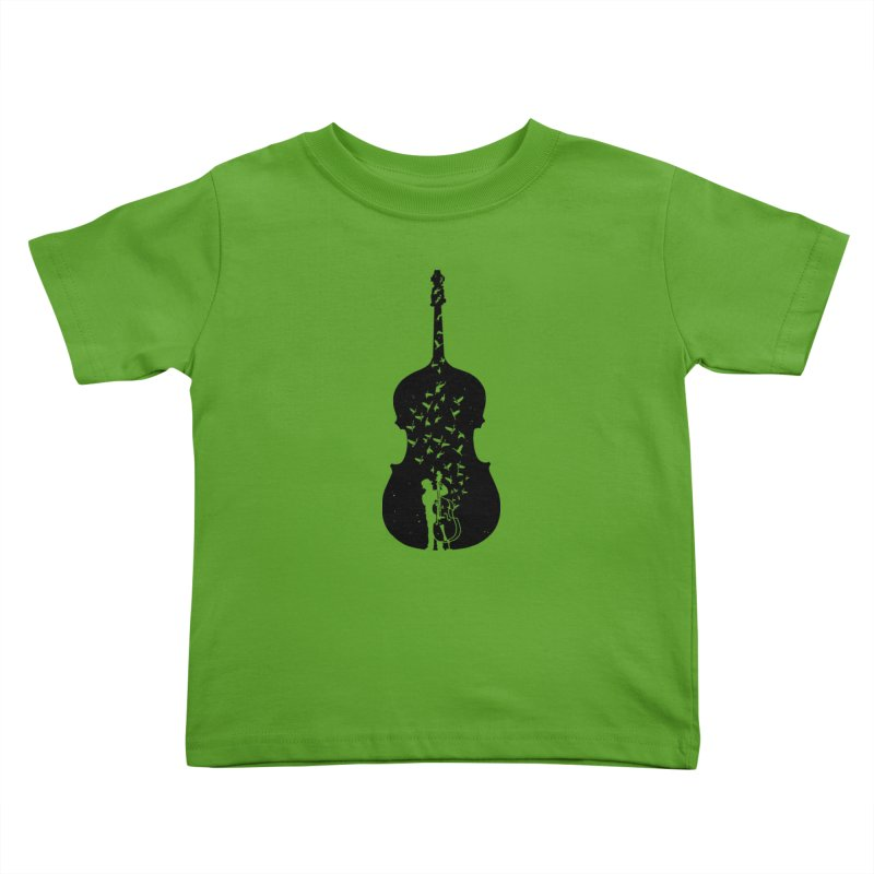 Double bass Kids Toddler T-Shirt by barmalisiRTB