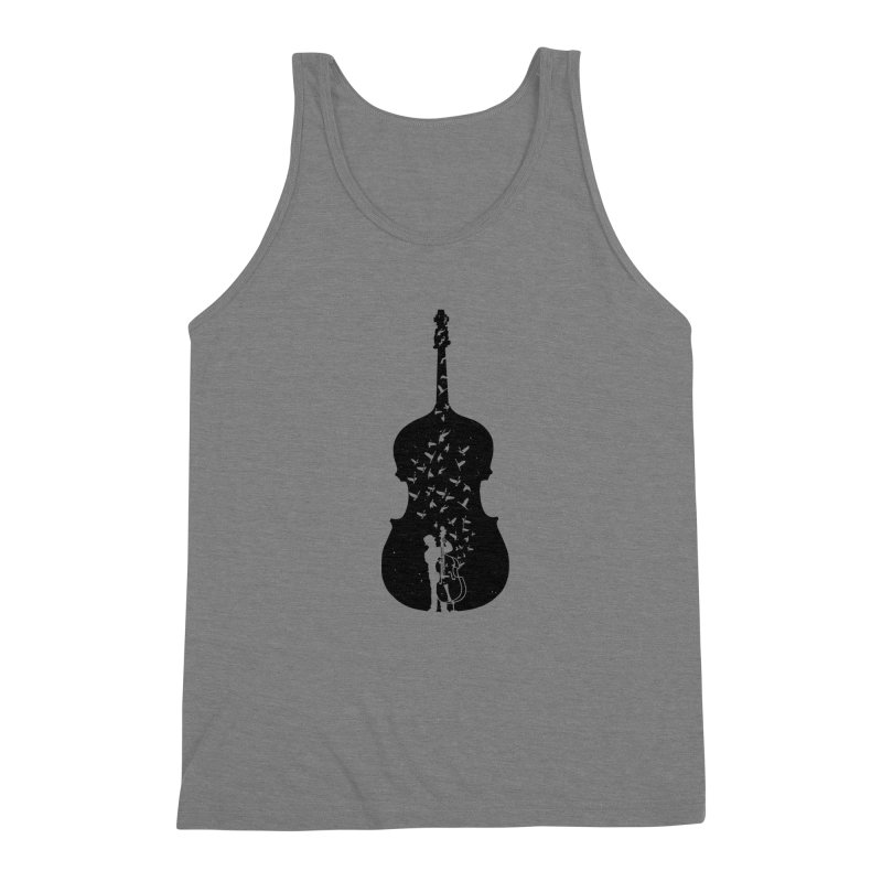 Double bass Men's Triblend Tank by barmalisiRTB
