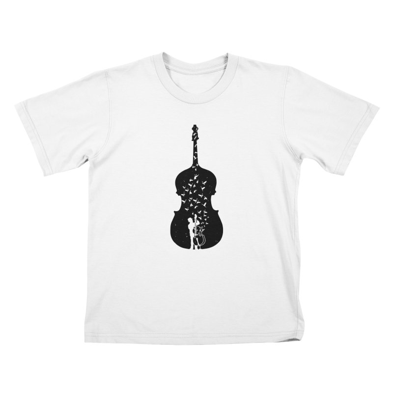 Double bass Kids T-Shirt by barmalisiRTB