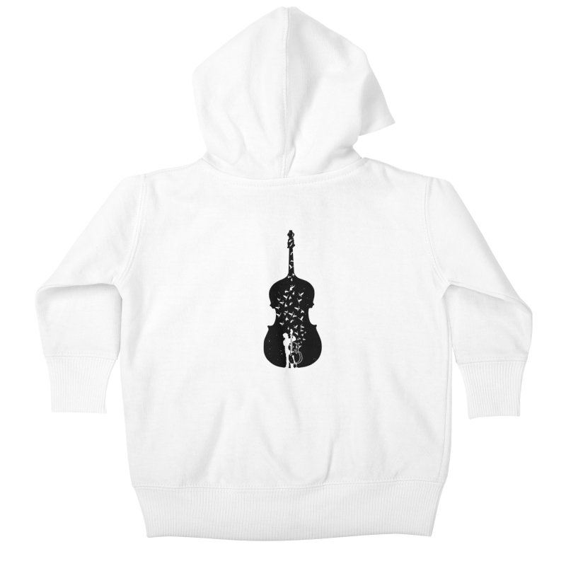Double bass Kids Baby Zip-Up Hoody by barmalisiRTB