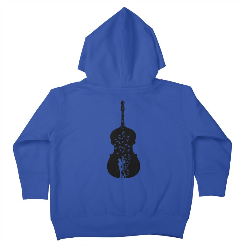 Double bass Kids Toddler Zip-Up Hoody by barmalisiRTB