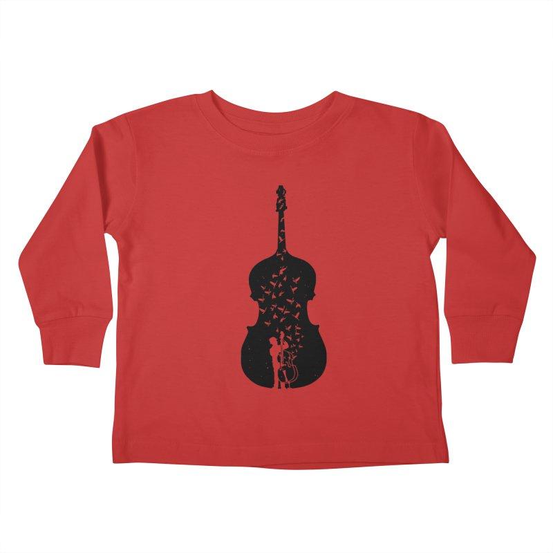 Double bass Kids Toddler Longsleeve T-Shirt by barmalisiRTB
