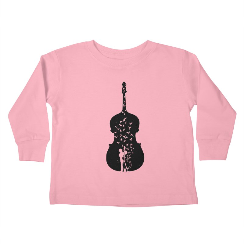 Double bass Kids Toddler Longsleeve T-Shirt by barmalisiRTB