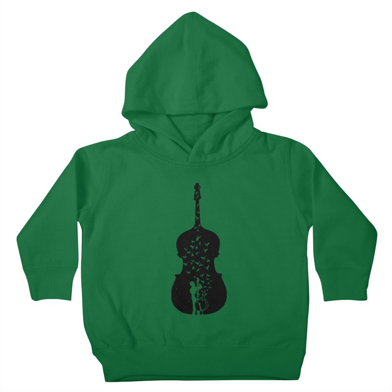 Double bass Kids Toddler Pullover Hoody by barmalisiRTB