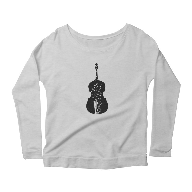 Double bass Women's Scoop Neck Longsleeve T-Shirt by barmalisiRTB