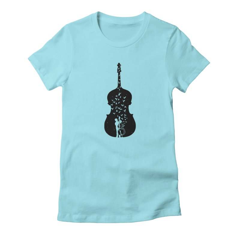 Double bass Women's Fitted T-Shirt by barmalisiRTB