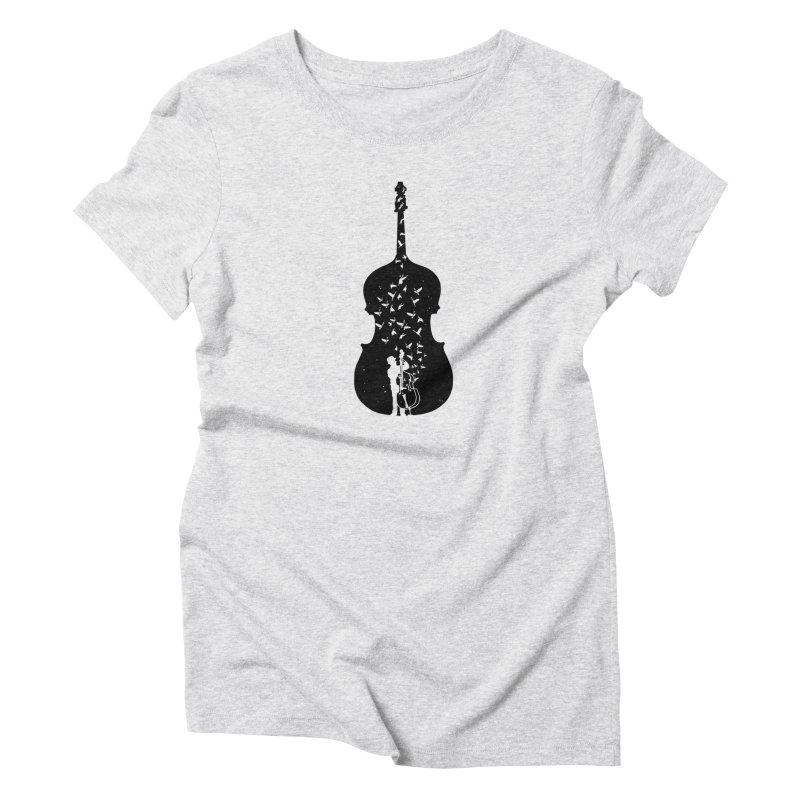 Double bass Women's T-Shirt by barmalisiRTB