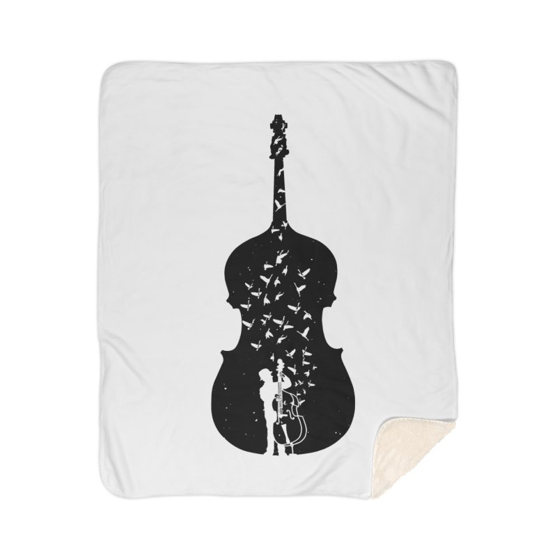 Double bass Home Blanket by barmalisiRTB