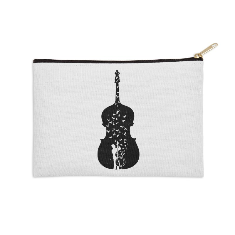 Double bass Accessories Zip Pouch by barmalisiRTB